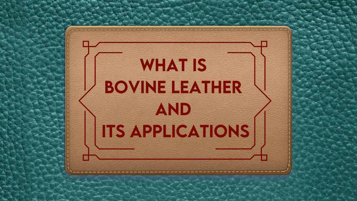 what is bovine leather