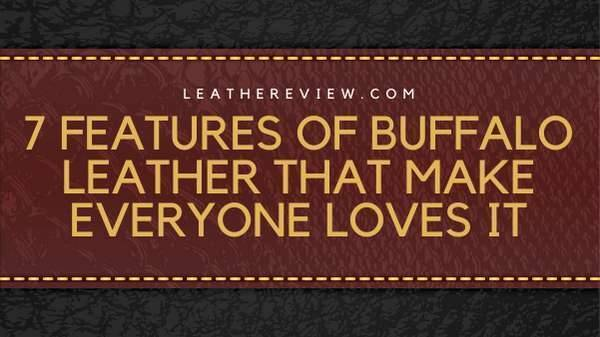 7 Features Of Buffalo Leather That Make Everyone Loves It